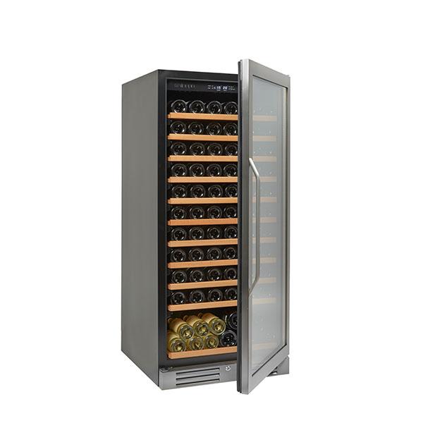 מקרר יין מתקדם עם מדפי עץ נשלפים עד 121 בקבוקים NS-110A